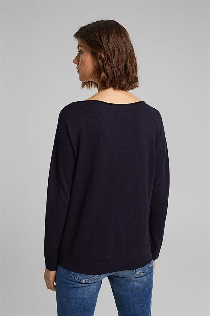 Met zijde: trui met borstzak, NAVY, detail image number 3