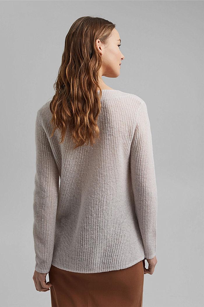 Mit Wolle/Alpaka: Rippstrick-Pullover, SAND, detail image number 3