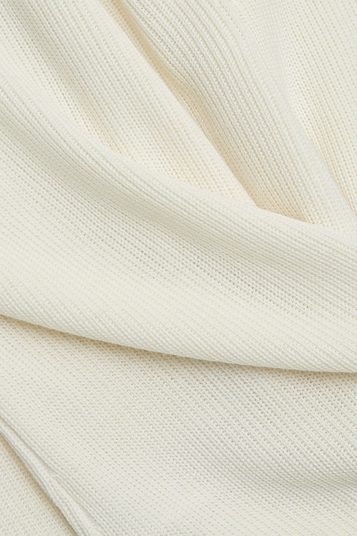 With hemp: Jumper made of LENZING™ ECOVERO™, OFF WHITE, detail image number 4