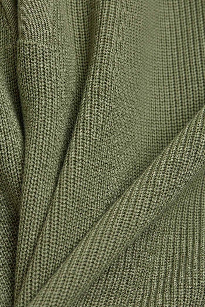 With hemp: Jumper made of LENZING™ ECOVERO™, LIGHT KHAKI, detail image number 4