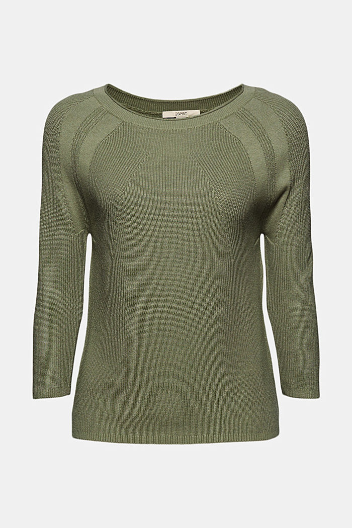 With hemp: Jumper made of LENZING™ ECOVERO™, LIGHT KHAKI, detail image number 6