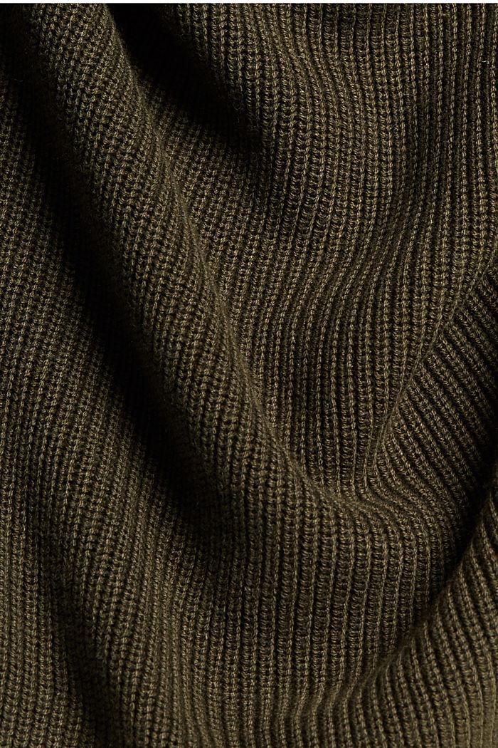 Mit Hanf: Pullover aus LENZING™ ECOVERO™, KHAKI GREEN, detail image number 4
