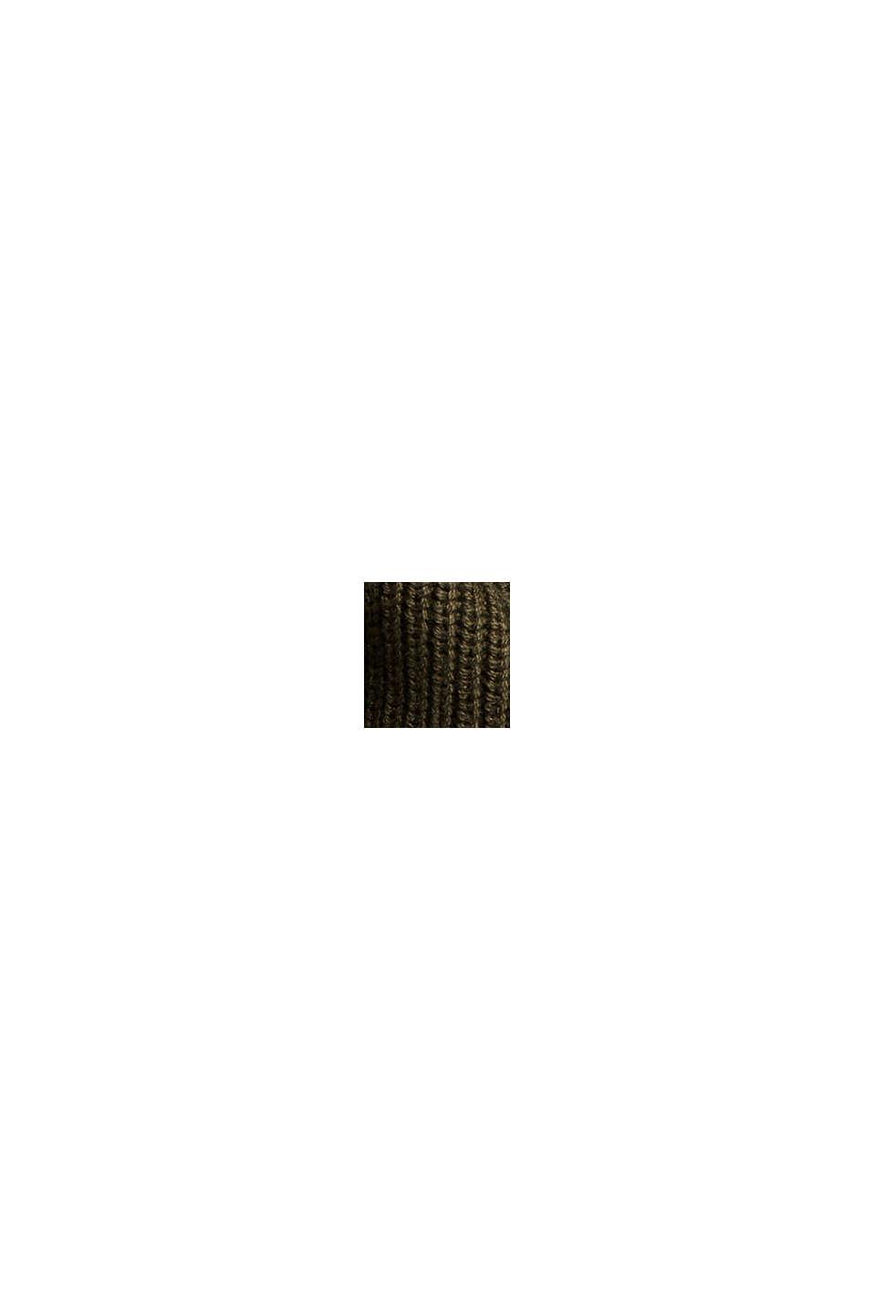 Sis. hamppua: neulepusero LENZING™ ECOVERO™ -kuitua, KHAKI GREEN, swatch