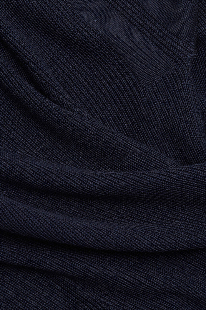 With hemp: Jumper made of LENZING™ ECOVERO™, NAVY, detail image number 4