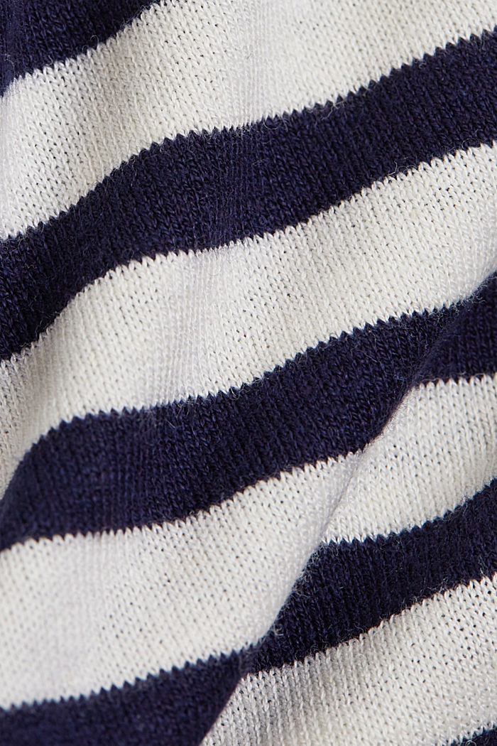 Hemp/LENZING™ ECOVERO™ blend: layered jumper, OFF WHITE, detail image number 4