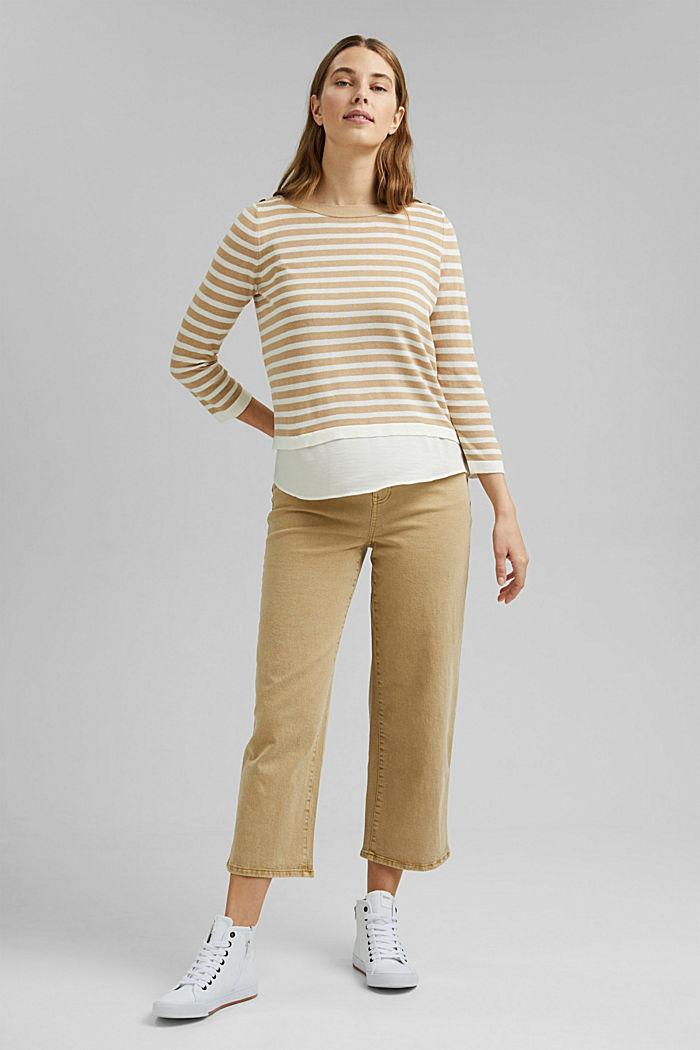Hemp/LENZING™ ECOVERO™ blend: layered jumper, SAND, detail image number 6