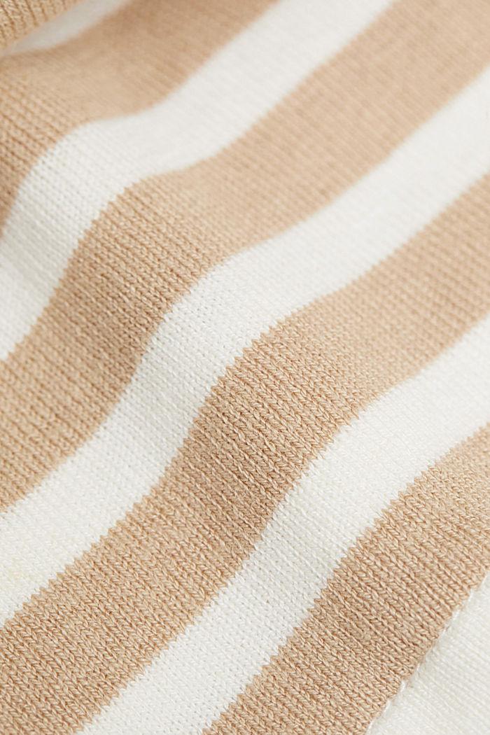 Hemp/LENZING™ ECOVERO™ blend: layered jumper, SAND, detail image number 4