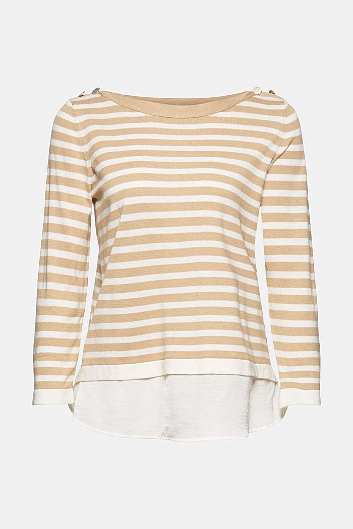 Hemp/LENZING™ ECOVERO™ blend: layered jumper, SAND, detail image number 7