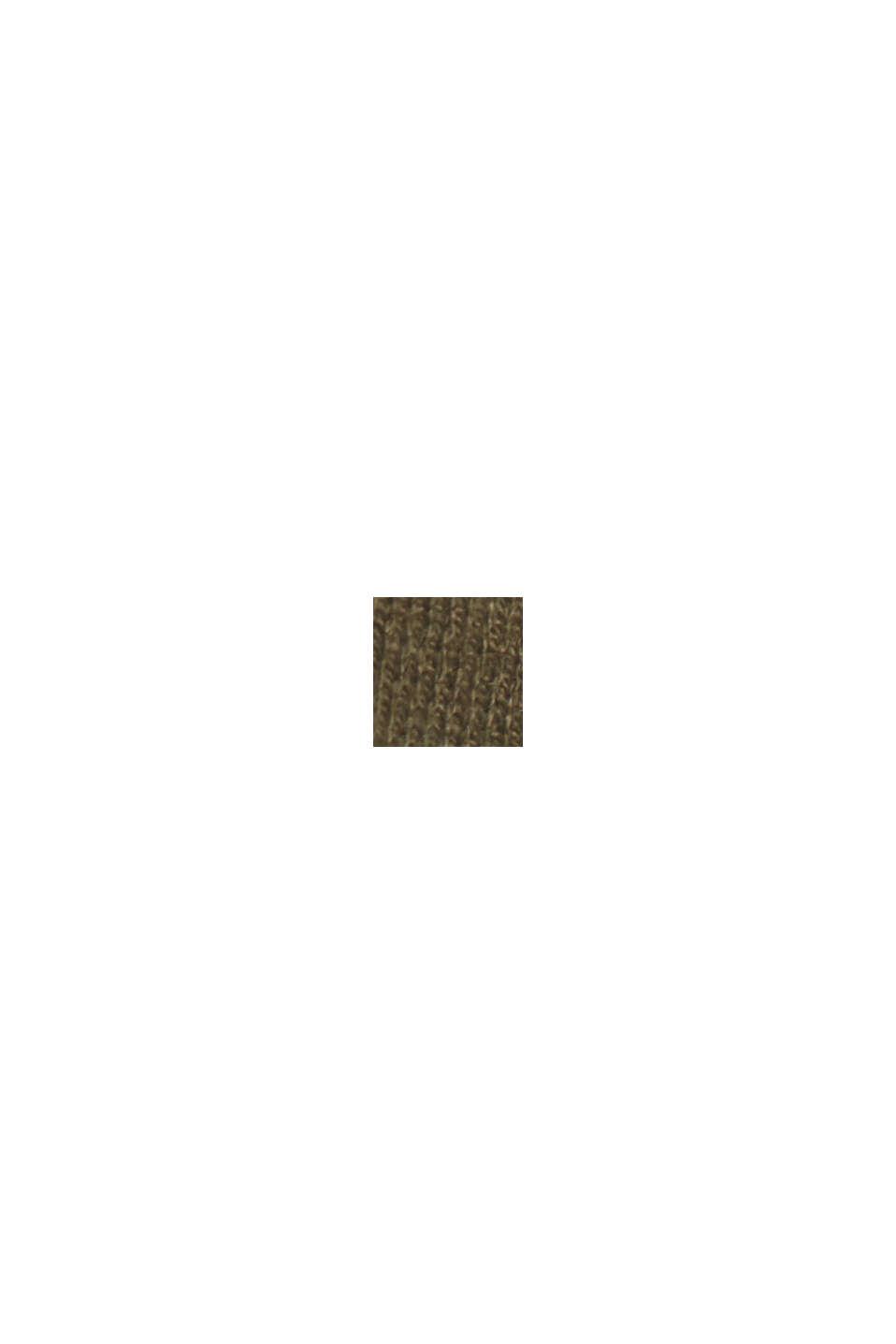 Mit Hanf/LENZING™ ECOVERO™: Layer-Pullover, KHAKI GREEN, swatch