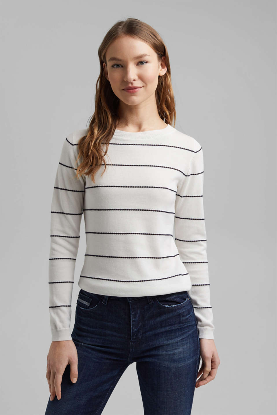 Esprit - Striped jumper made of 100% organic cotton