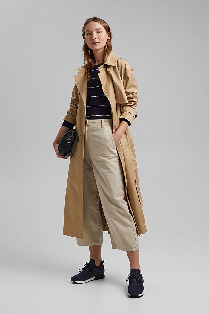 Streifen-Pullover aus 100% Organic Cotton, NAVY, detail image number 1