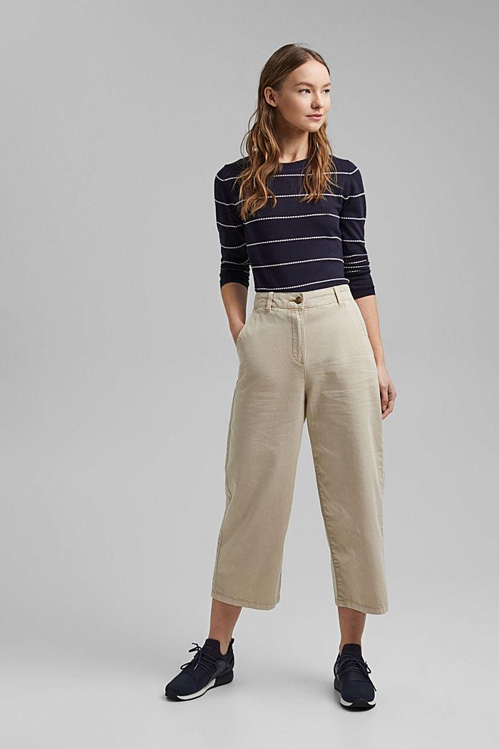 Streifen-Pullover aus 100% Organic Cotton, NAVY, detail image number 6