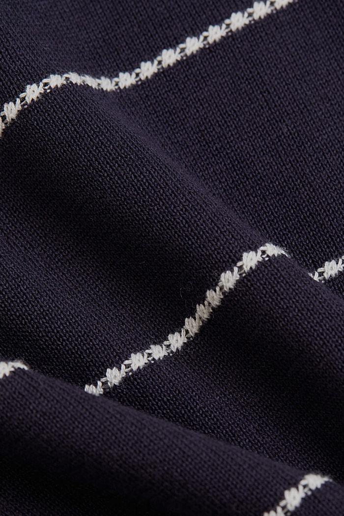 Streifen-Pullover aus 100% Organic Cotton, NAVY, detail image number 4