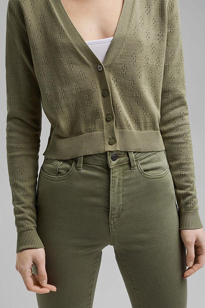 Bolero-Cardigan aus 100% Organic Cotton, LIGHT KHAKI, detail image number 2