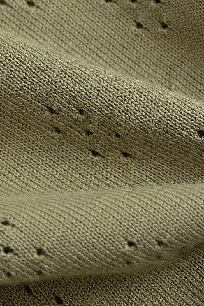 Bolero-Cardigan aus 100% Organic Cotton, LIGHT KHAKI, detail image number 4