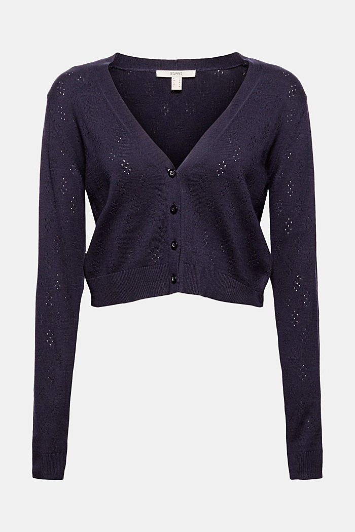 Bolero cardigan made of 100% organic cotton, NAVY, detail image number 6