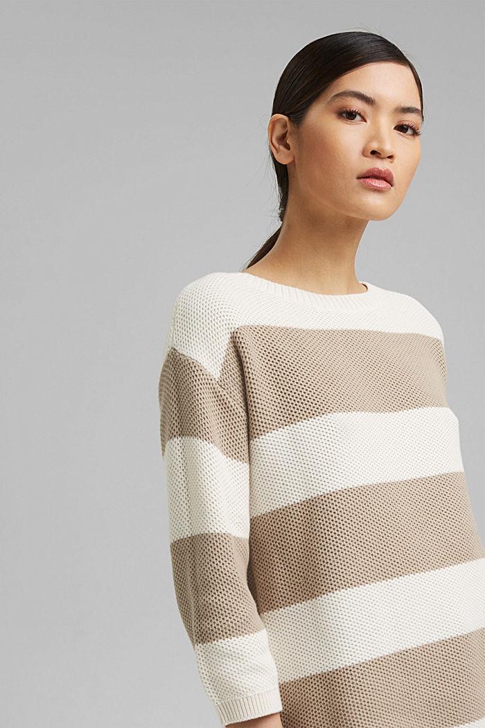 Block stripe jumper made of 100% organic cotton, ICE, detail image number 5