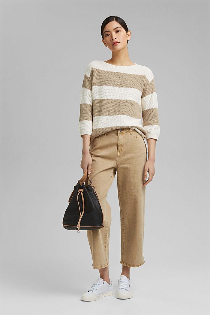 Block stripe jumper made of 100% organic cotton, ICE, detail image number 1