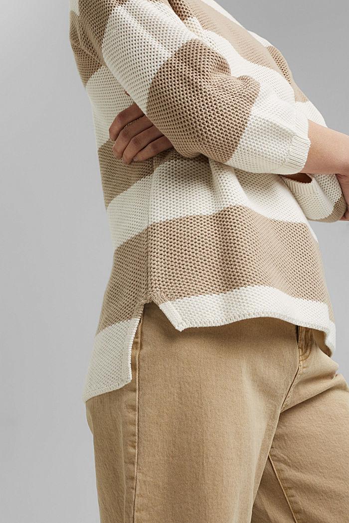 Block stripe jumper made of 100% organic cotton, ICE, detail image number 2