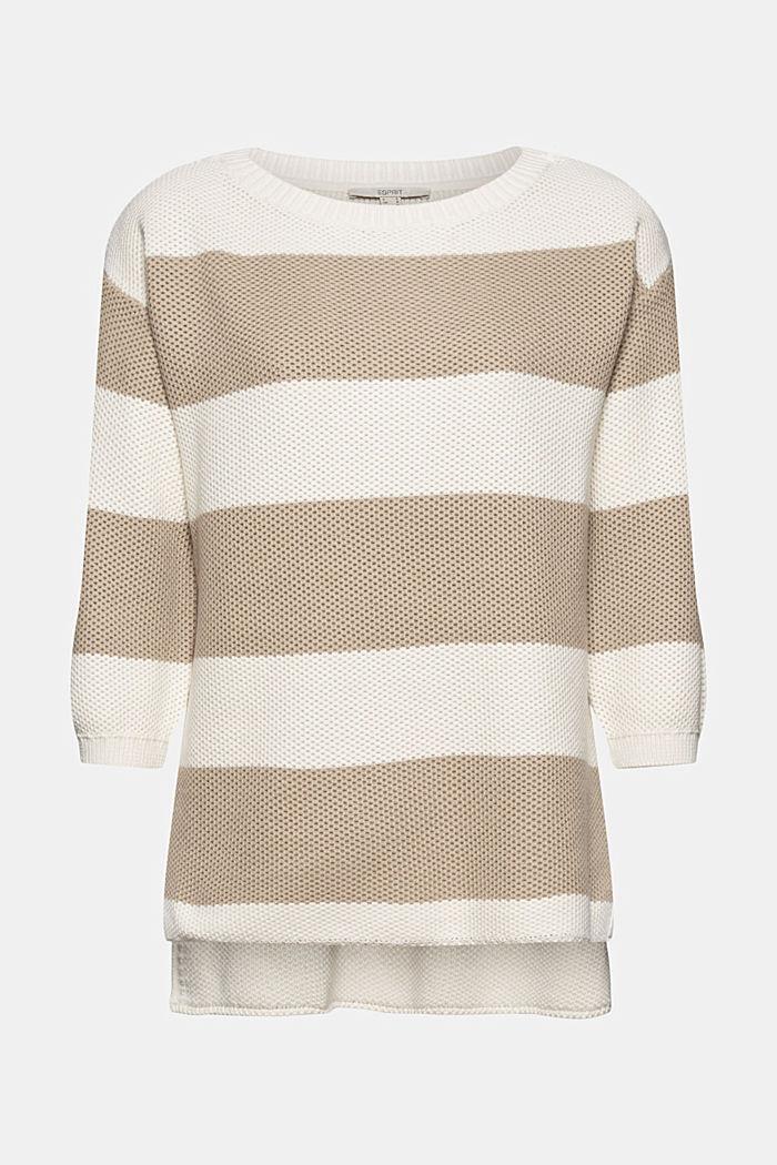 Block stripe jumper made of 100% organic cotton, ICE, detail image number 6