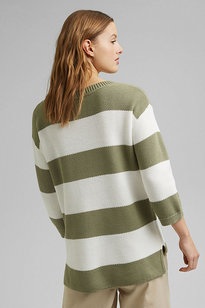 Block stripe jumper made of 100% organic cotton, LIGHT KHAKI, detail image number 3