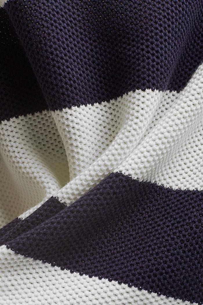 Blockstreifen-Pullover aus 100% Bio-Baumwolle, NAVY, detail image number 4