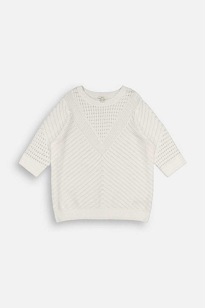 Openwork jumper made of 100% organic cotton