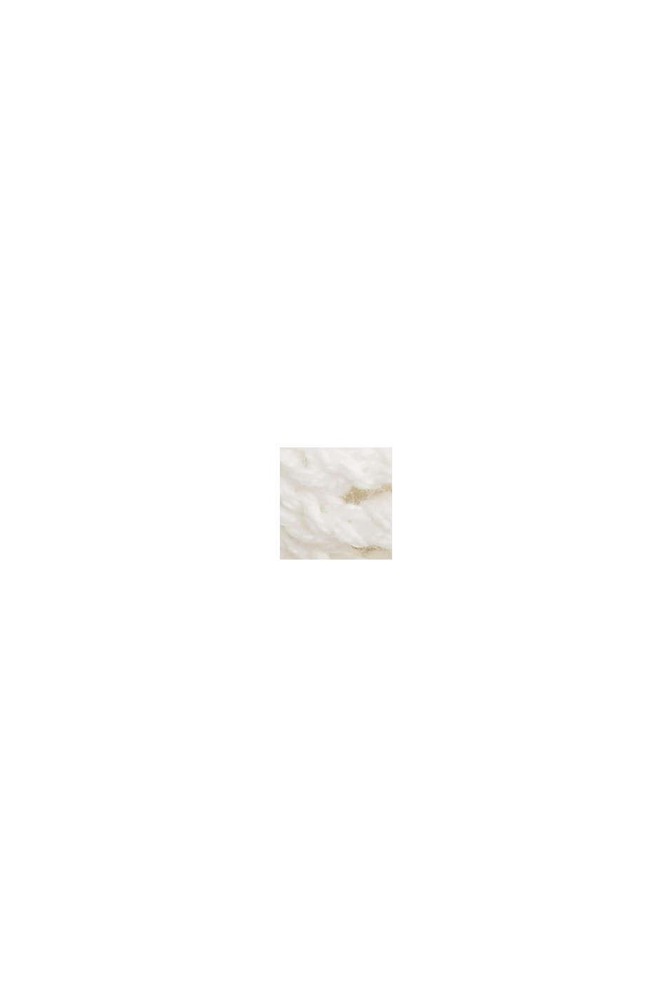 Pullover a giorno in 100% cotone biologico, OFF WHITE, swatch