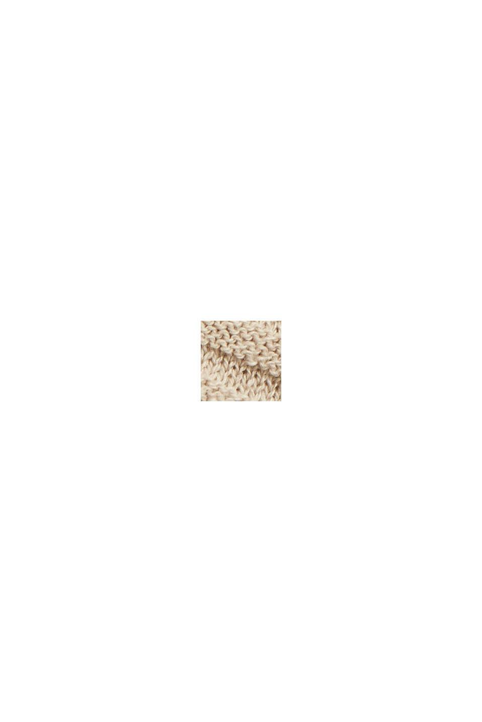 Linen/organic cotton: Rib knit jumper, SAND, swatch
