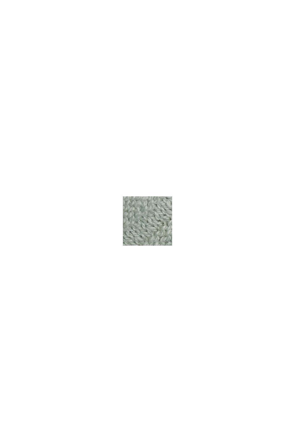 Lino y algodón ecológico: jersey de punto acanalado, LIGHT AQUA GREEN, swatch