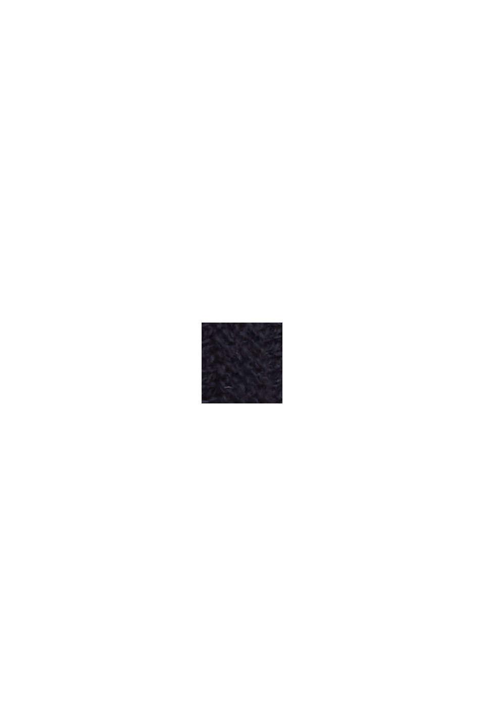 Linen/organic cotton: Rib knit jumper, NAVY, swatch