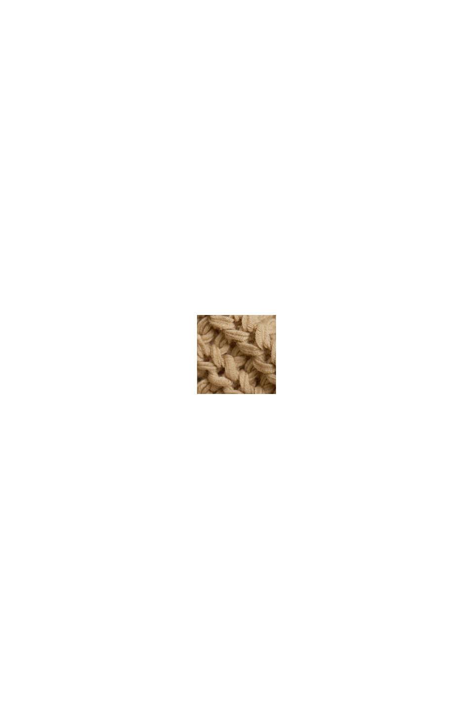 Ribbon yarn jumper with a bateau neckline, SAND, swatch