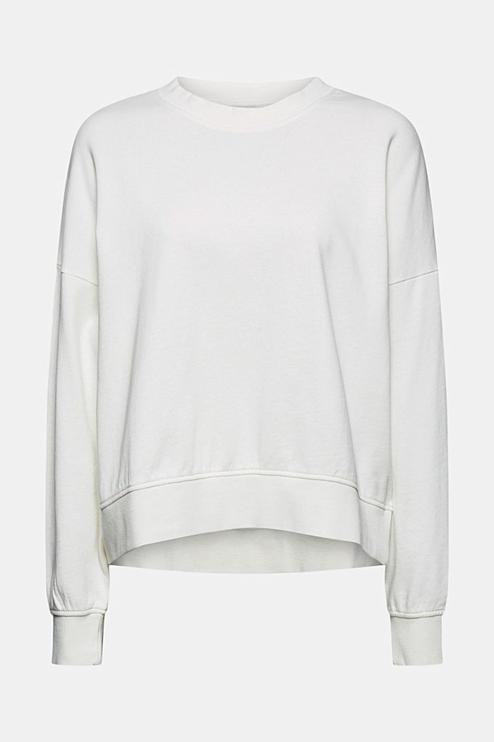 Boxy sweatshirt in 100% organic cotton, OFF WHITE, detail image number 6