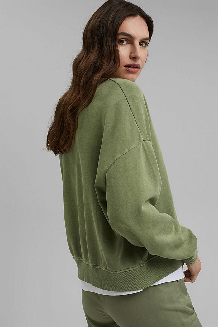 Boxy Sweatshirt aus 100% Organic Cotton, LIGHT KHAKI, detail image number 3