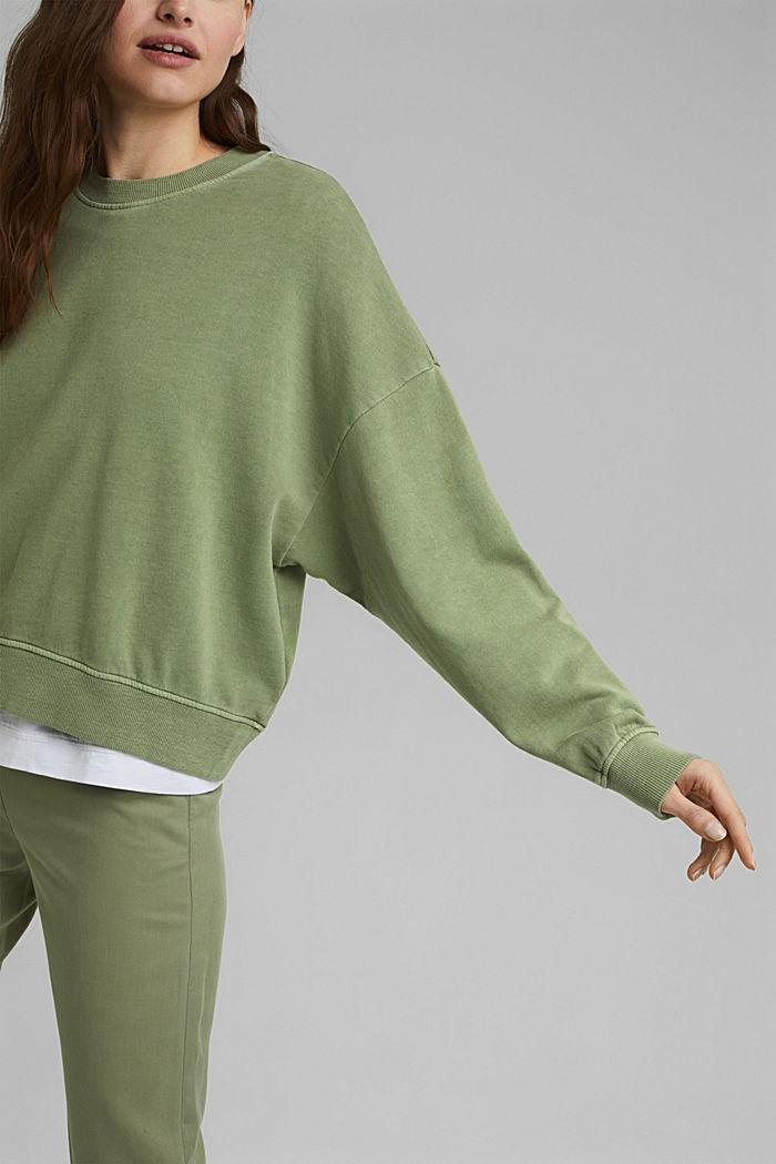 Boxy Sweatshirt aus 100% Organic Cotton, LIGHT KHAKI, detail image number 2