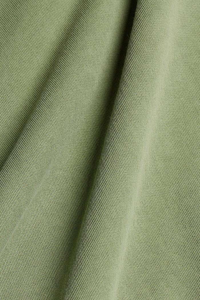 Boxy Sweatshirt aus 100% Organic Cotton, LIGHT KHAKI, detail image number 4
