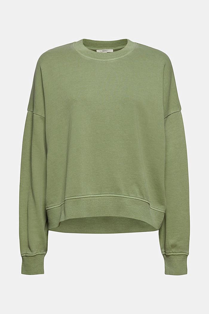 Boxy Sweatshirt aus 100% Organic Cotton, LIGHT KHAKI, detail image number 5