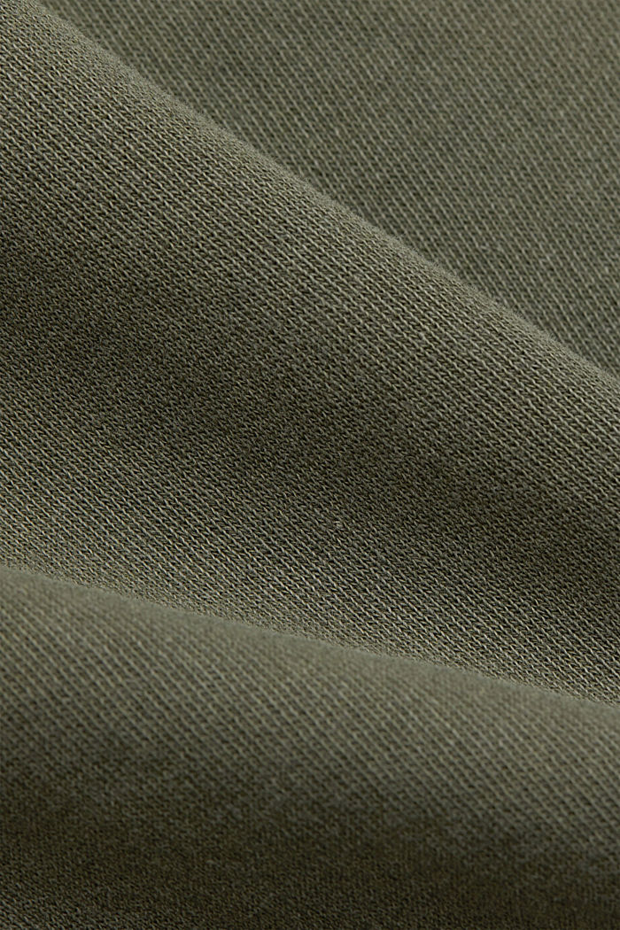 Boxy sweatshirt in 100% organic cotton, KHAKI GREEN, detail image number 4