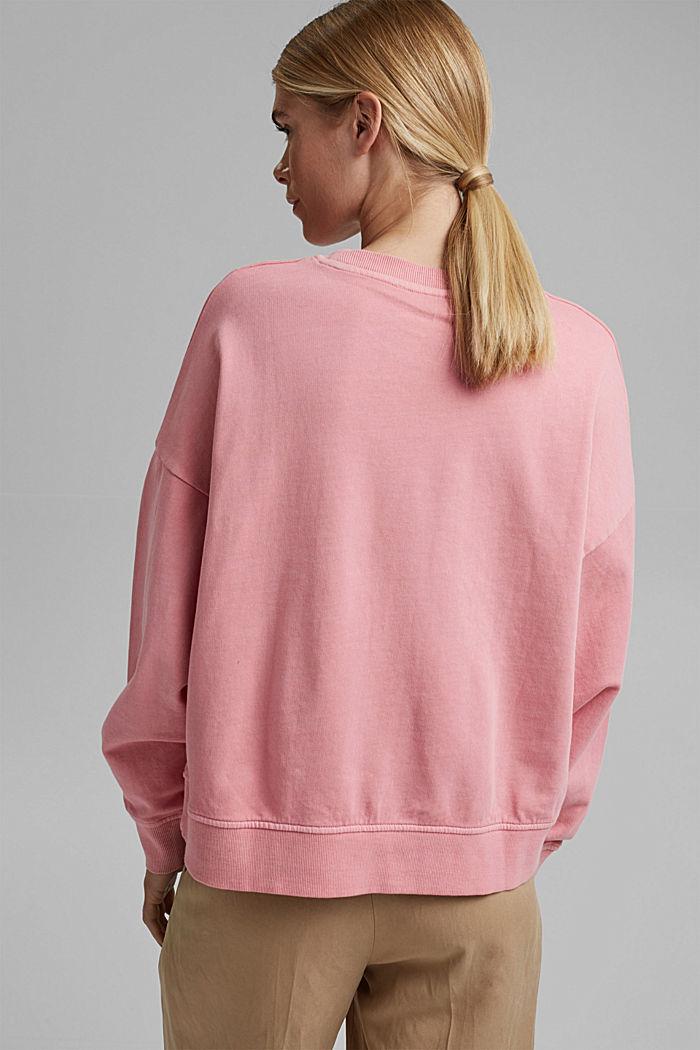 Boxy Sweatshirt aus 100% Organic Cotton, PINK, detail image number 3