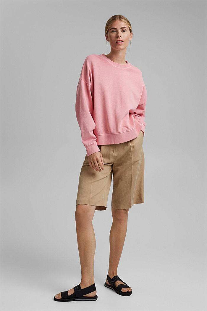 Boxy Sweatshirt aus 100% Organic Cotton, PINK, detail image number 1