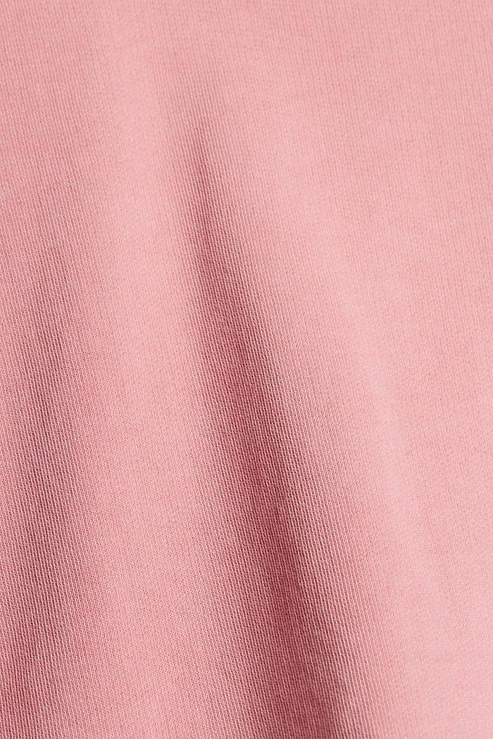 Boxy Sweatshirt aus 100% Organic Cotton, PINK, detail image number 4