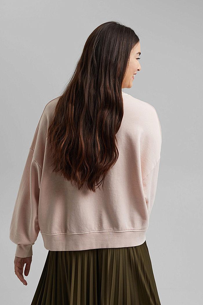 Boxy sweatshirt in 100% organic cotton, NUDE, detail image number 3