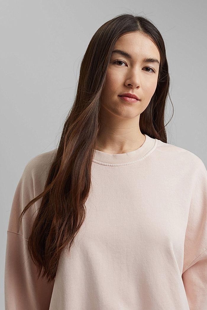 Boxy sweatshirt in 100% organic cotton, NUDE, detail image number 5