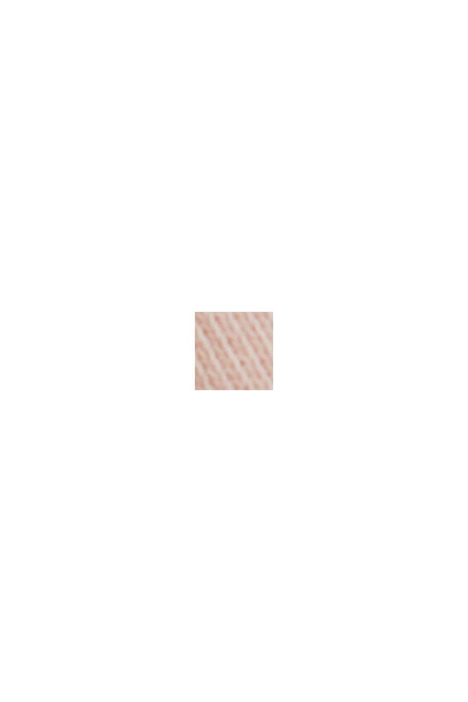 Hranatá mikina ze 100% bio bavlny, NUDE, swatch