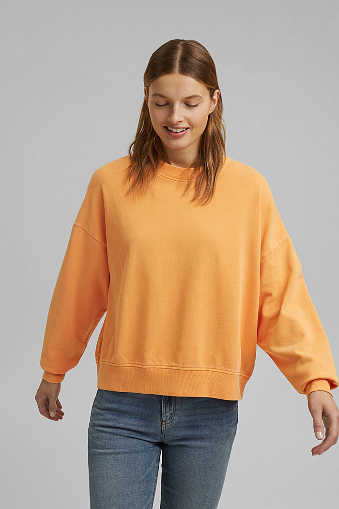 Boxy shirt af 100% økologisk bomuld, ORANGE, detail image number 0