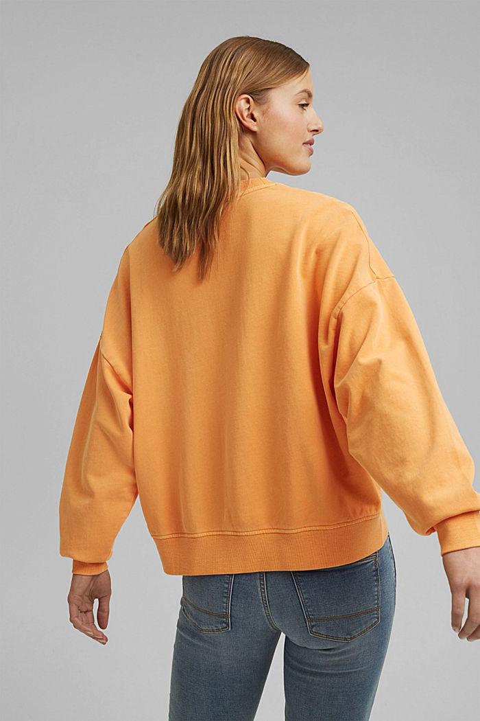 Boxy shirt af 100% økologisk bomuld, ORANGE, detail image number 3