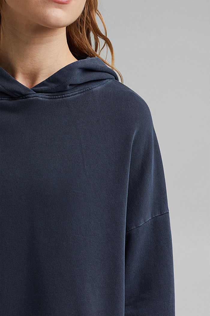 Boxy hoodie in 100% organic cotton, NAVY, detail image number 2