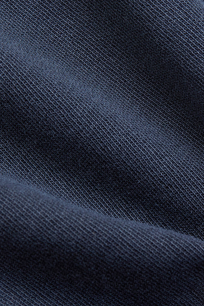 Boxy hoodie in 100% organic cotton, NAVY, detail image number 4