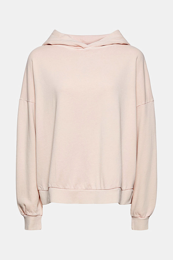 Boxy hoodie in 100% organic cotton, NUDE, detail image number 8