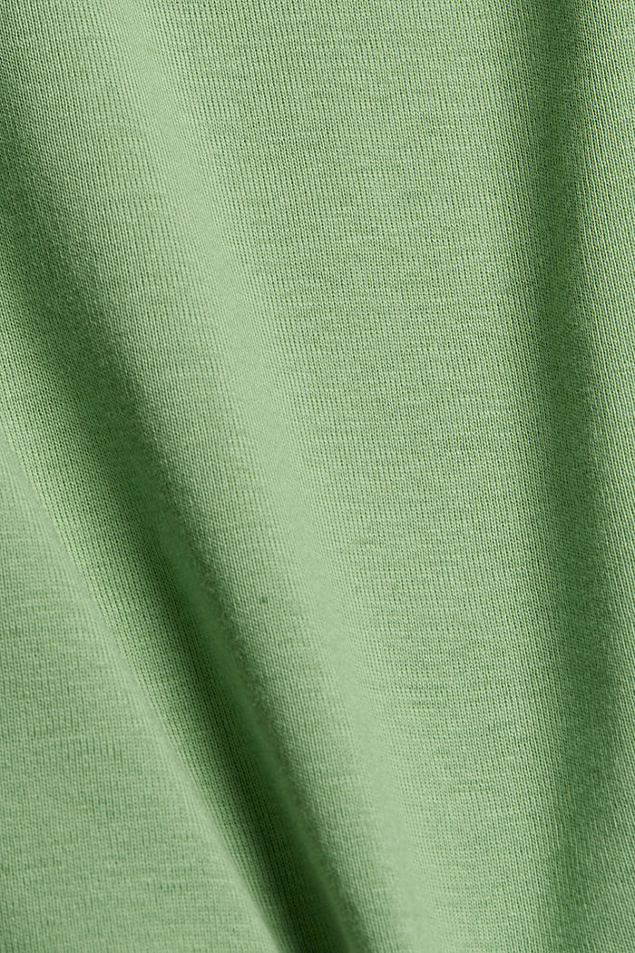 T-shirt with a glittery logo, 100% organic cotton, LEAF GREEN, detail image number 4
